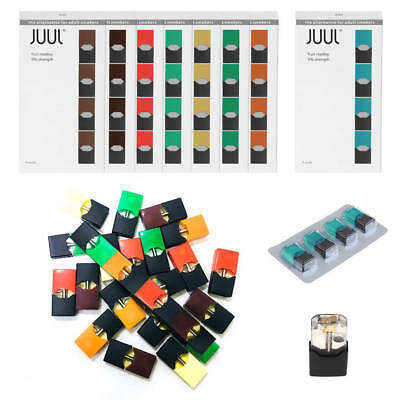 JUUL WRAP DECAL Compatible 4 Pods Mango/Cucumber/Creme/Menthol /Fruit Flavors