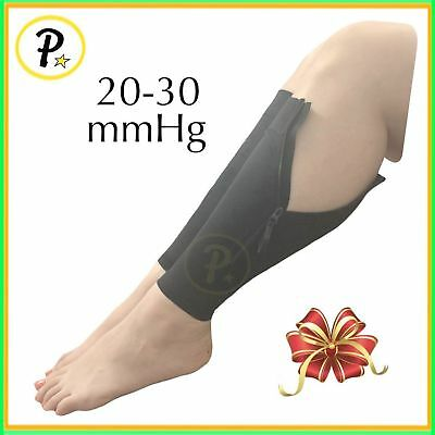 Presadee NEW Calf Sleeve With Zipper 20-30 mmHg Compression Leg Shin Circulation