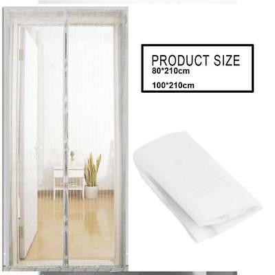 Magic Mesh Door Curtain Magnetic Snap Fly Bug Insect Mosquito Screen Net Guard S