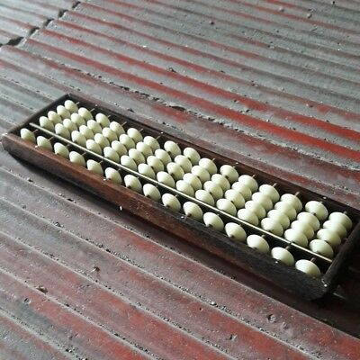 Antique Abacus Soroban Wooden Calculating Tool 4+1 Beads Counting Japan Vintage