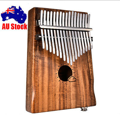 17 Keys EQ kalimba Acacia Thumb Piano With Link Speaker Electric Pickup Cable AU