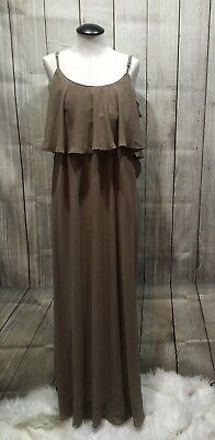 4de3ff316c1b Show Me Your Mumu women dress S full length brown caitlin ruffle maxi b60