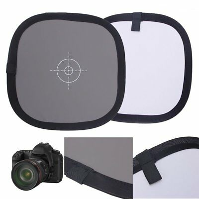 30cm 18% Gray White Balance Card Double Sides Face Focus Board For Photograph