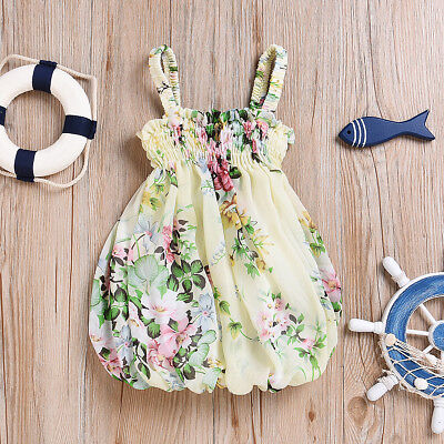 New Girl Summer Dress Kid Baby Pageant Party Birthday Princess Floral Dresses