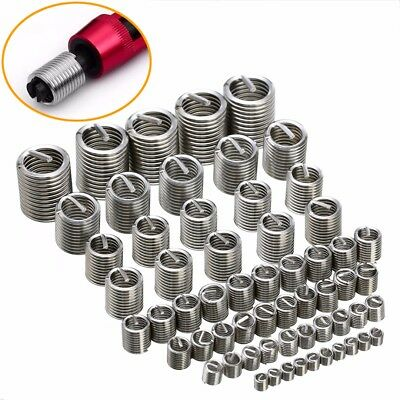 60Pcs 304 M3-M12 Stainless Steel Thread Repair Insert Kit M3 M4 M5 M6 M8 M10 M12
