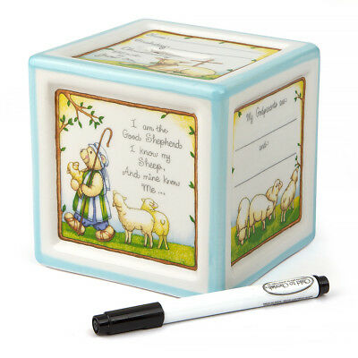 NEW Child To Cherish Christening Block To Grow Blue Money Box