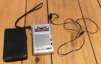 Olympus Pearlcorder S801 2 speed Dictaphone Microcassette recorder Case EXTRAS