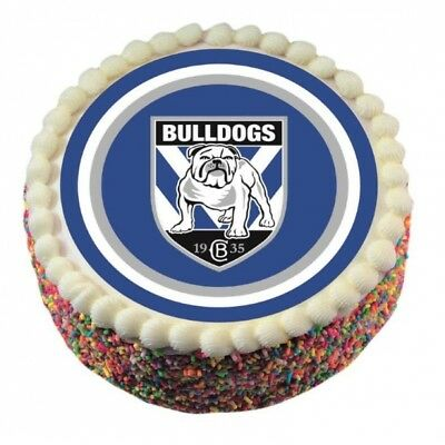 Canterbury Bulldogs Edible Icing Cake Topper NRL Official Birthday Party