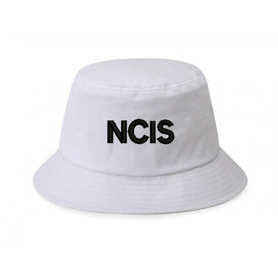 b29191096f414 100% Cotton White Bucket Cap Hat NCIS Naval Criminal Investigative Service