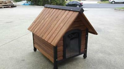 Dog Kennel Wood Timber - Large