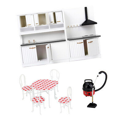 1/12 Scale Dollhouse Kitchen Mini Furniture Kit Accessory For Kids Toy Gift