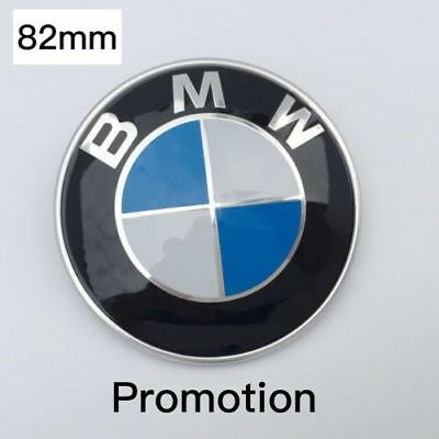 82mm 2Pins For BMW Hood Rear Trunk Car Emblem Chrome Front Badge Logo