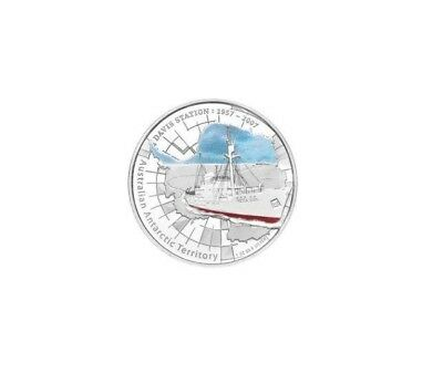 2007 Australian Antarctic Territory - Davis Station - 1oz .999 Silver Proof Coin