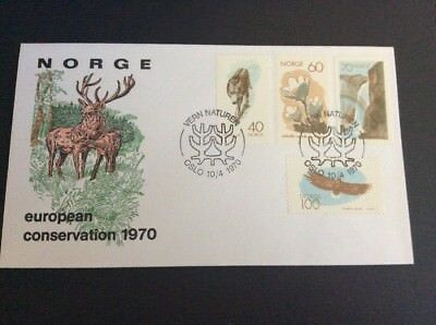 Norway FDC Naturvernaret Set of 4 Stamps Unaddressed FDC  10th April 1970 Oslo