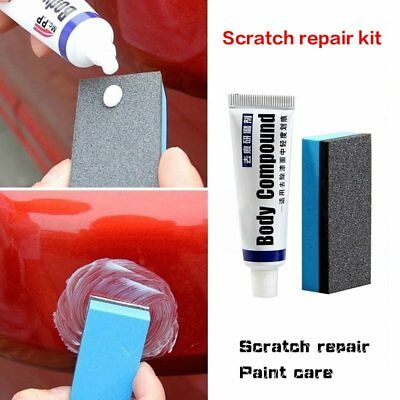 Car Body Compound Scratch Remover MAGIC Eraser Paste with Sponge Brush Defect ne
