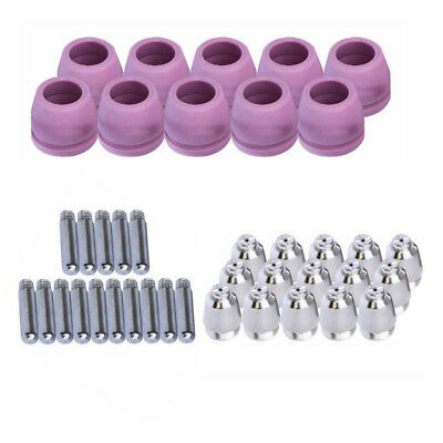 40x AG-60 SG-55 Nozzle Tip Electrode Shield for Plasma Cutting Cutter Torch ASSY