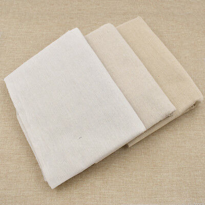 Basic Linen Cotton Fabric Table Cloth Natural Material DIY Craft Accessory 1 m