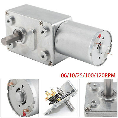DC12V Reversible High Torque Turbo Worm Geared Motor 0.6-120RPM Self-Locking UK