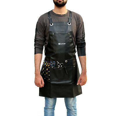 Pro Leather Hairdressing Barber Apron Cape for Barber Hairstylist