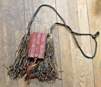 Vintage  Manding Tribe Pouch C1920s Leather African. western Sudan.