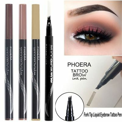 New Phoera Tattoo Eyebrow Pen Smudge-proof Waterproof Eyebrow Pencil Eye Makeup