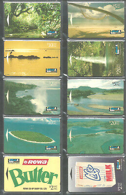 Fiji .        109  Different Old  Phonecards  Of  '' Fiji '' / Used