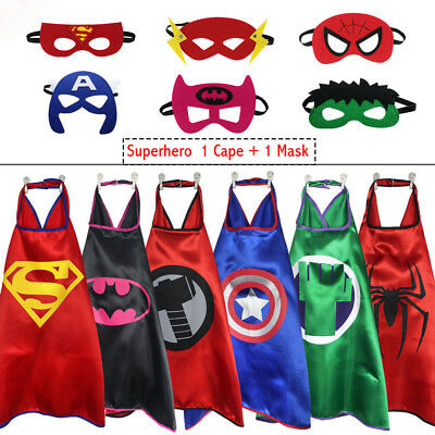 Superhero Cape (1 cape+1 mask) for kids birthday party favors and ideas--