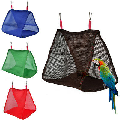 Bird Hammock Hanging Cave Cage Snuggle Happy Hut Tent Bed Parrot Bunk Toy Comely