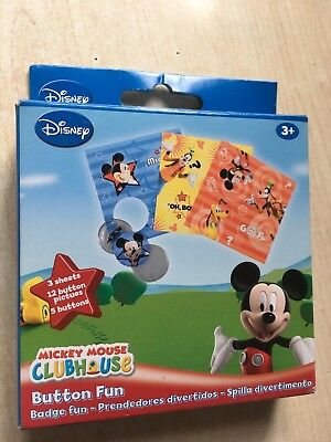 BNIP New Disney Mickey Mouse Button Fun - Make Your Own Badges