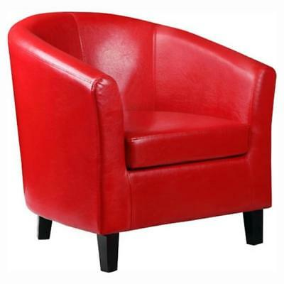 Deluxe Faux Leather Traditional Tub Chair Armchair for Dining Living Room k1603