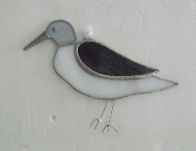 Stained glass sandpiper suncatcher new hand made