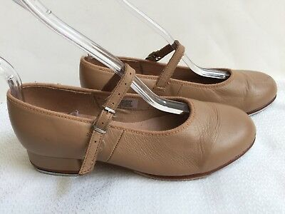 BLOCH Techno Tap Shoes Girls Size 4.5 Youth Dance Leather Tan