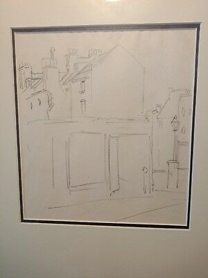 "Norman Lindsay ORIGINAL pencil sketch "" LONDON "" circa 1910"
