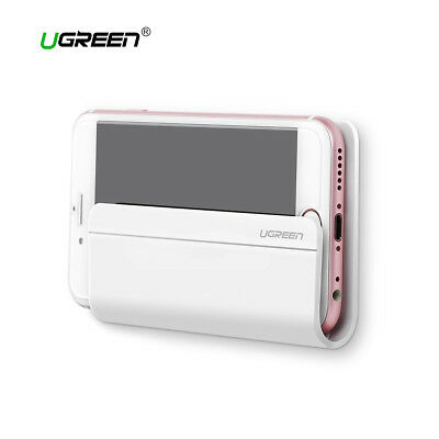 Soporte de pared para carga movil y tablet UGREEN adhesivo 3M ABS blanco