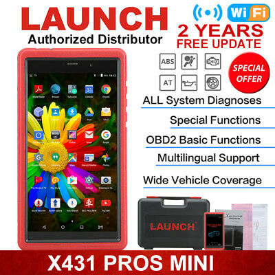 2018 LAUNCH X431 Pros Mini V Pro ScanPad Diagnostic Scanner Full Car Models V+