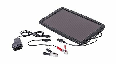 AA Solar-Powered Car Battery Charger - Black .