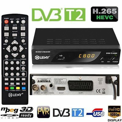 DVB-T2 Receiver ✔ H.265✔ Full HD 1080P ✔HDMI✔Scart✔ USB✔ Media Player W7