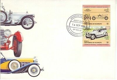 Bequia, Grenadines of St. Vincent  - Automobiles (1st Series) (PO FDC) 1984