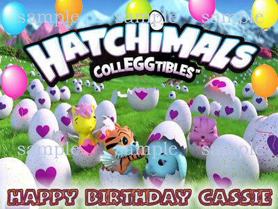 HATCHIMALS Personalize Edible Photo CAKE Image Icing Topper Decoration FREE SHIP