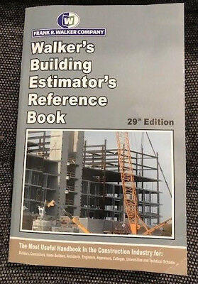 REDUCED AGAIN!  - Walker's Building Estimator's Reference Book 29th Edition