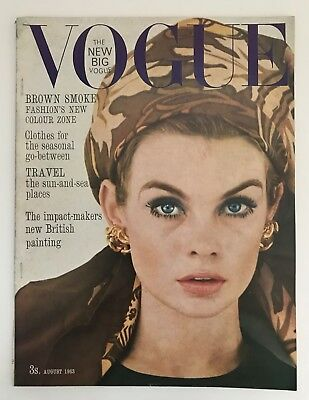 VTG August 1963 Vogue Magazine Jean Shrimpton David Bailey Helmut Newton Duffy