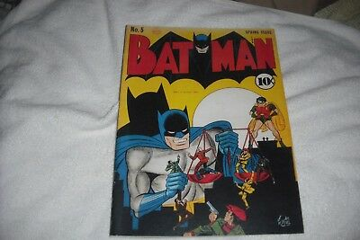 Batman #-5 ( 1941 ),a Very  Nice Outside Inside Facsimile Covers Only