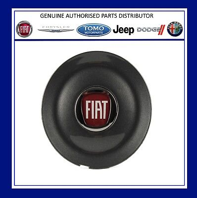New Genuine Fiat Bravo Sport Alloy Wheel Centre Cap Anthracite Grey 735452756