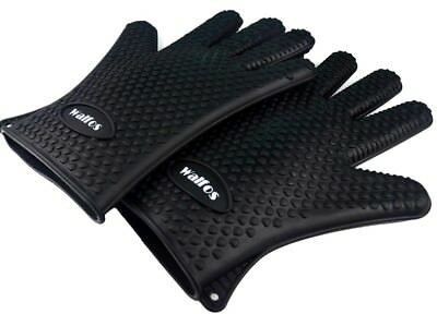 WALFOS Heat Resistant Silicone Kitchen barbecue oven glove Cooking BBQ Grill Glo