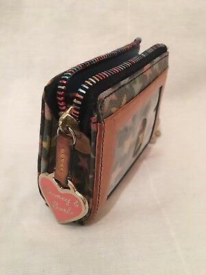 Vintage & Fun Dooney & Bourke - Charcoal Black Wallet W/lots Of Colorful Stars!