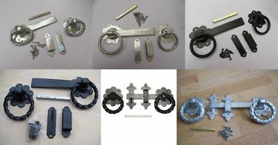 RING LATCH- garden gate shed door handles catch latch lock- Double sided