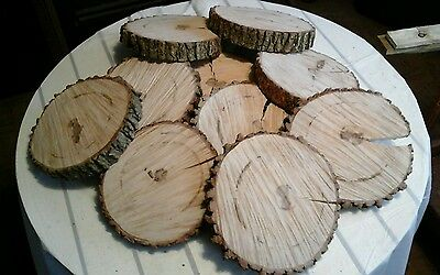 """15  Pc 7"""" to 9 inch rustic coaster set"""