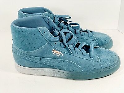 e727c55da302 Puma Pink Dolphin Men's Shoes US Size 8 Suede Mid Classic Blue and Pink  Coral DS