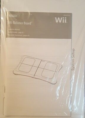New Nintendo Wii Balance Board Instruction Book and System Setup Manual