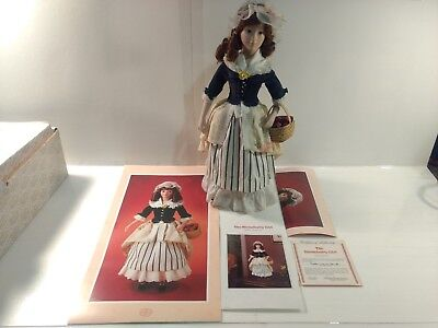 Franklin Mint Heirloom Dolls The Strawberry Girl Bisque Porcelain ds1325